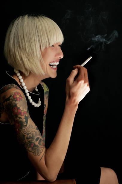 Smoke & fun stock photo