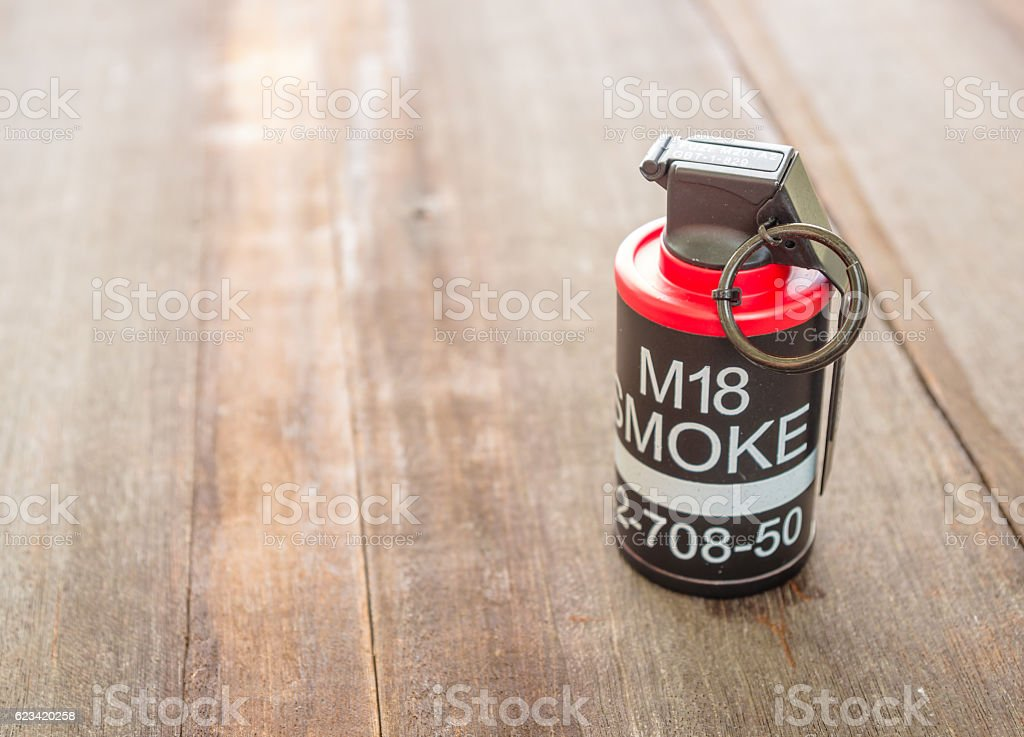 M18 Smoke grenade model stock photo