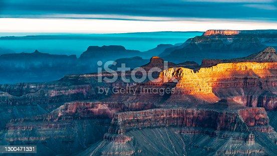 istock Smoke Hovers over the Grand Canyon in Arizona 1300471331