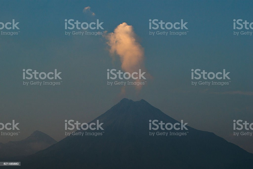 Smoke illuminated by the last rays Lizenzfreies stock-foto