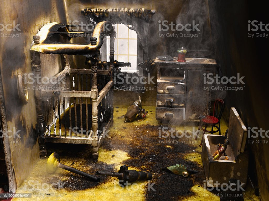 Smoke in nursery room, close-up royalty-free stock photo