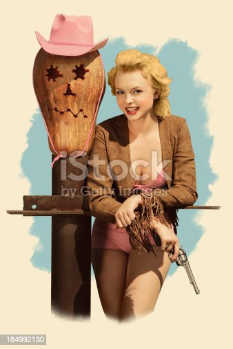 istock Smoke it,baby! in Pin-up style 184992130
