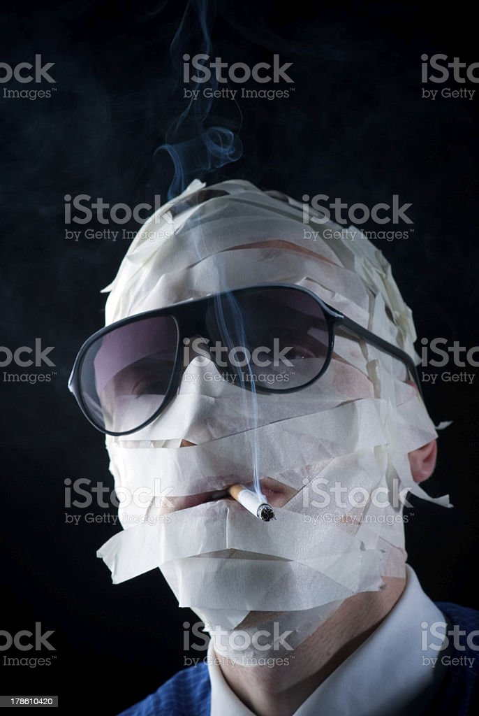 smoke kills stock photo