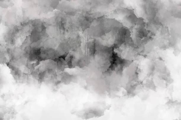Rauchen Sie in der Nähe der Betonmauer als Hintergrund – Foto