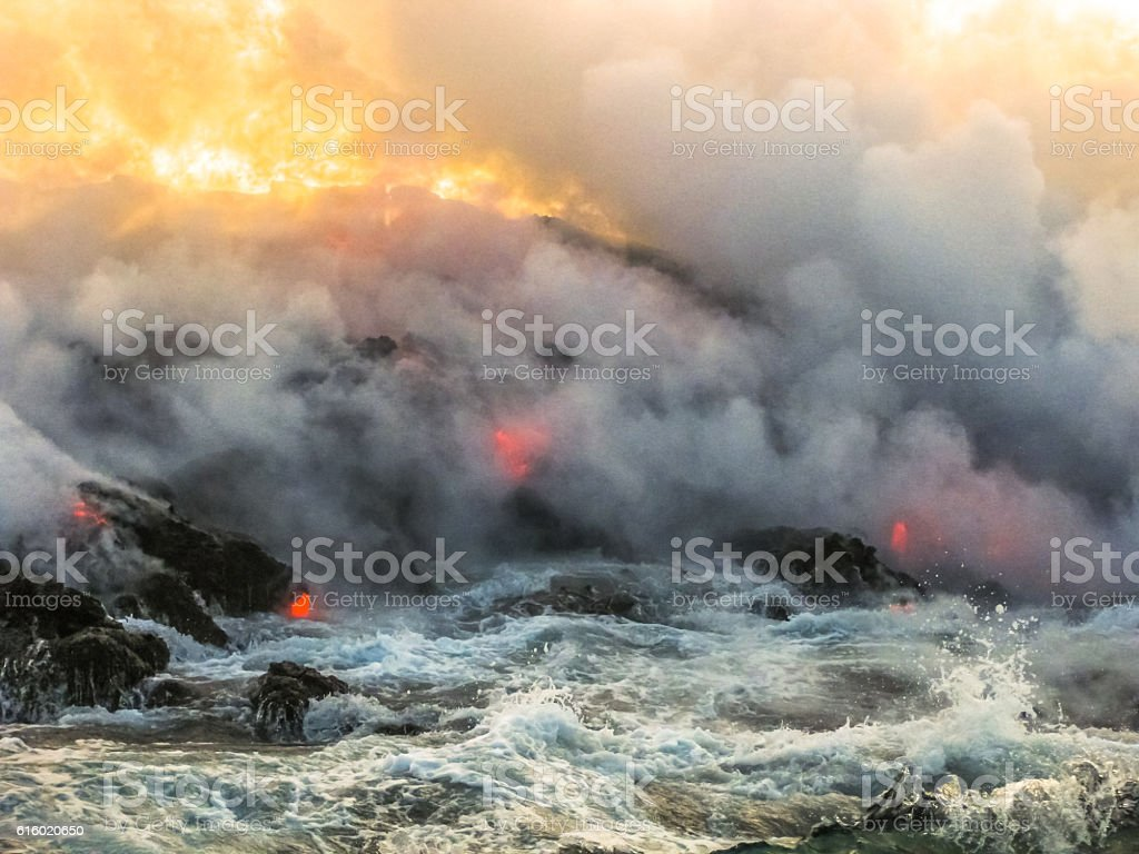 Smoke ok Kilauea stock photo