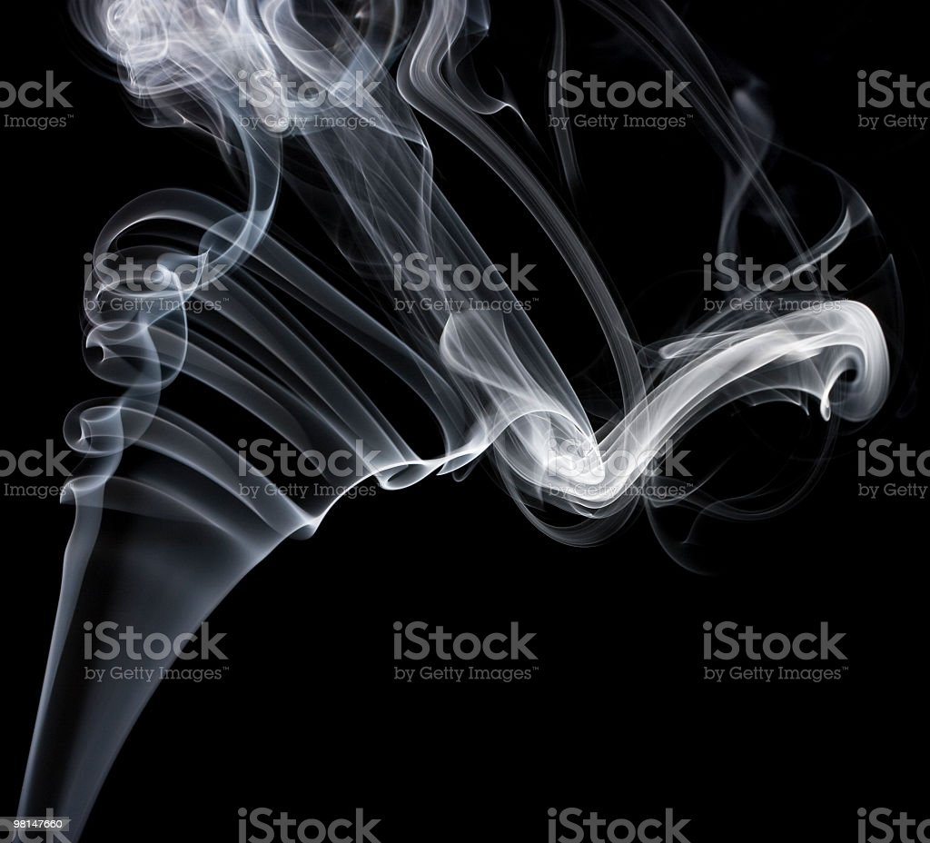 Smoke on black background royalty-free stock photo