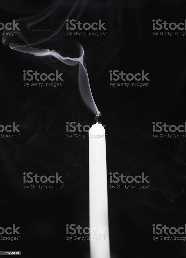 Smoke on black stock photo