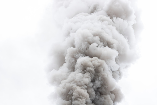 Smoke air pollution on air atmosphere pollution from factories.