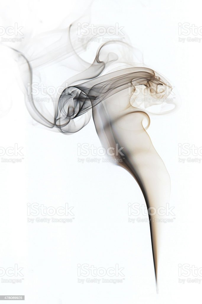 Smoke pattern on White stock photo