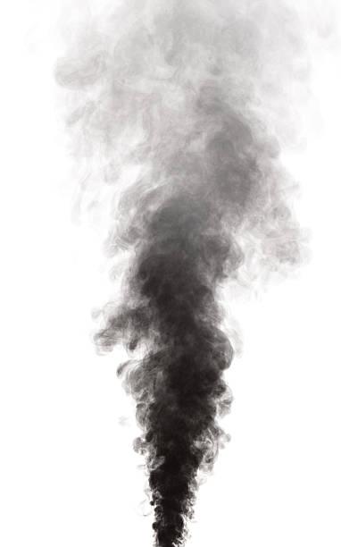 fumo - exhaust white background imagens e fotografias de stock