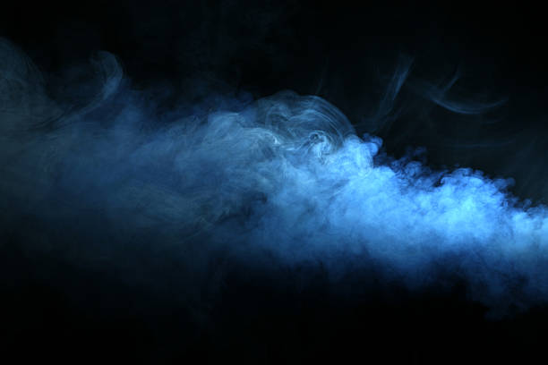 smoke - dark blue stock pictures, royalty-free photos & images