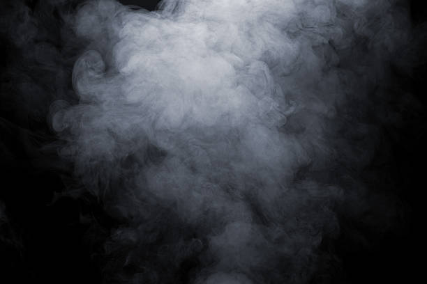 Smoke Smoke isolate on black background smoke physical structure stock pictures, royalty-free photos & images