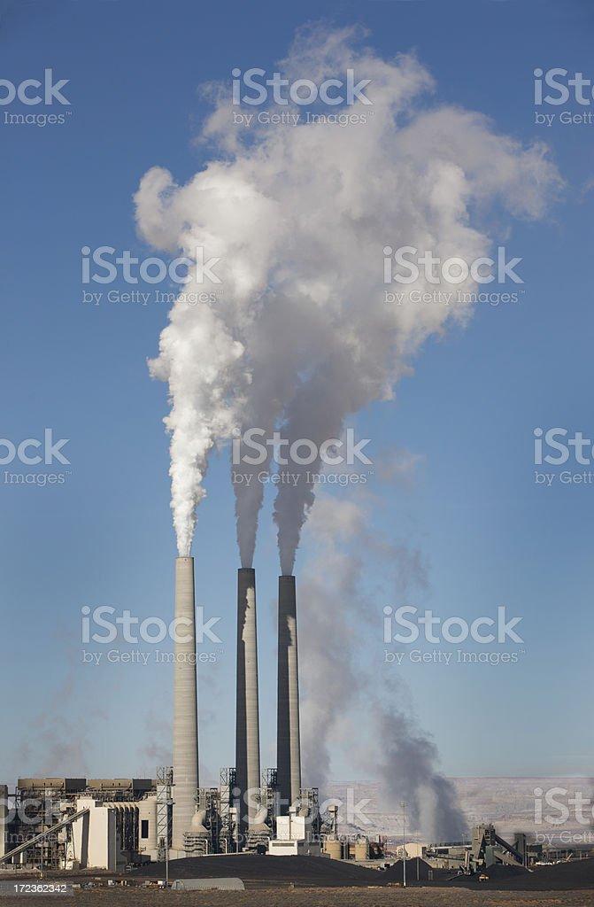 Smoke Stack of Coal Plant in Arizona royalty-free stock photo