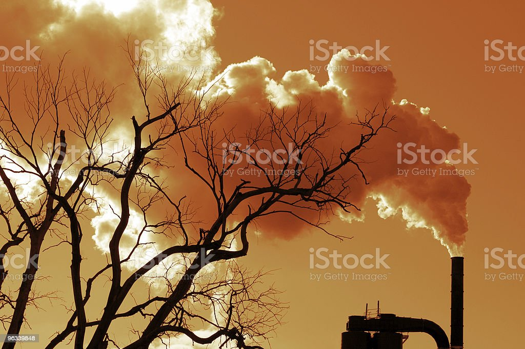 Smoke Stack royalty-free stock photo