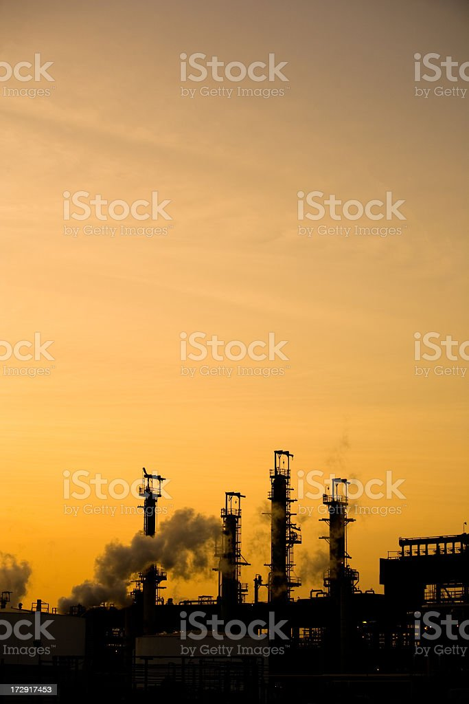 Smoke Stack Shadows royalty-free stock photo