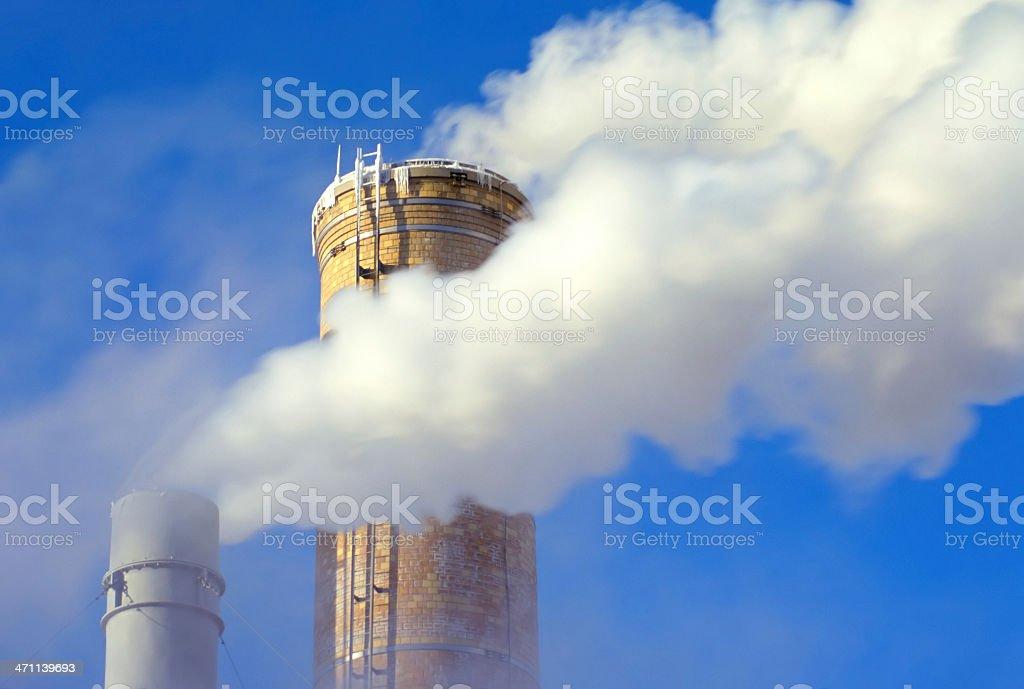 Smoke Stacks 2 royalty-free stock photo