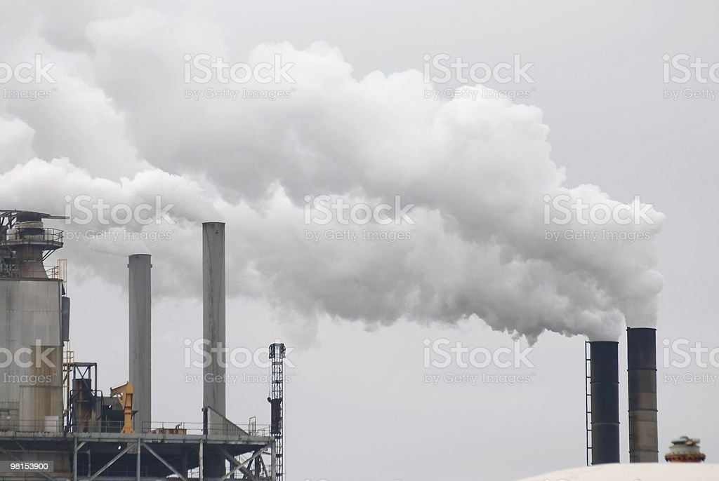 Smoke Stacks - Air Pollution royalty-free stock photo