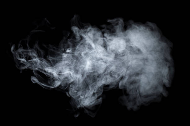 smoke - steam vaping background fog - black background stock pictures, royalty-free photos & images