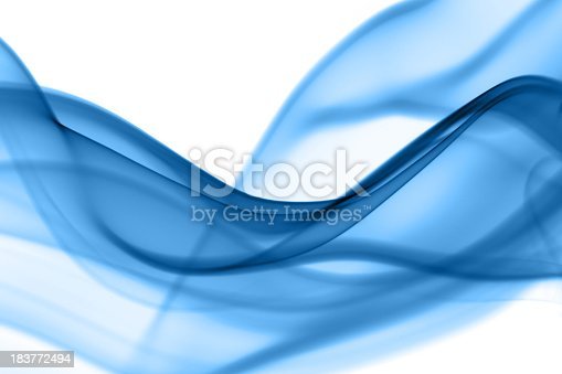 Smoke waves abstract in blue