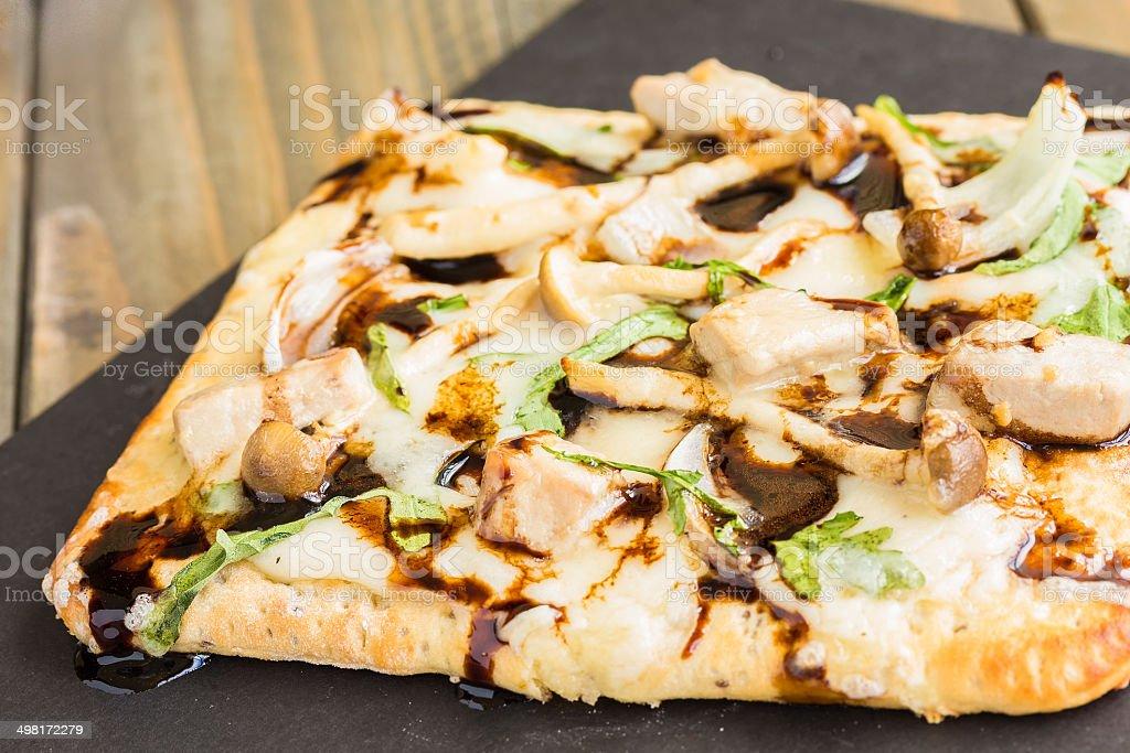 Smoked Ahi Pizza stock photo