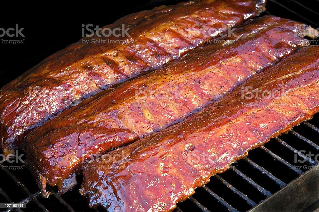 Smoked Baby Back Ribs. stock photo