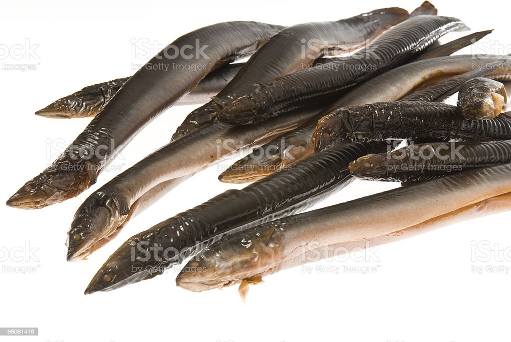 Smoked Eels close up royalty-free stock photo
