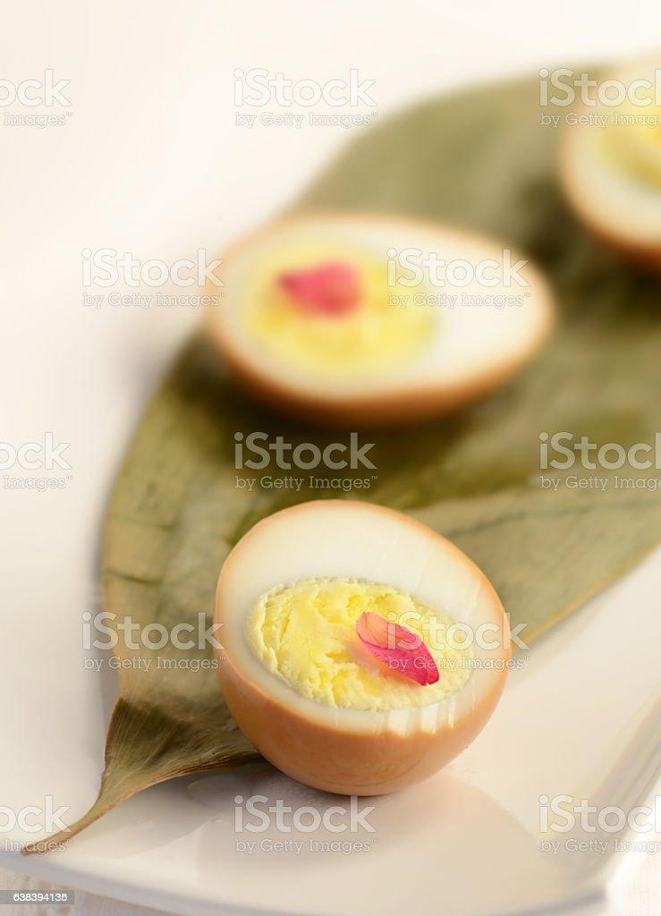 Smoked Eggs stock photo