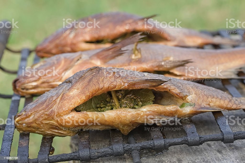 Smoked fish royalty-free stock photo