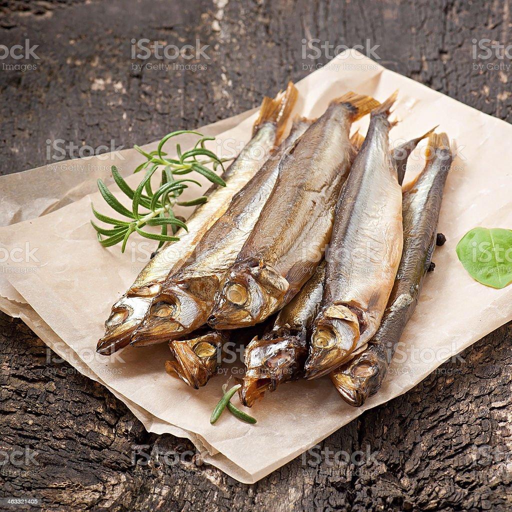 smoked fish stock photo