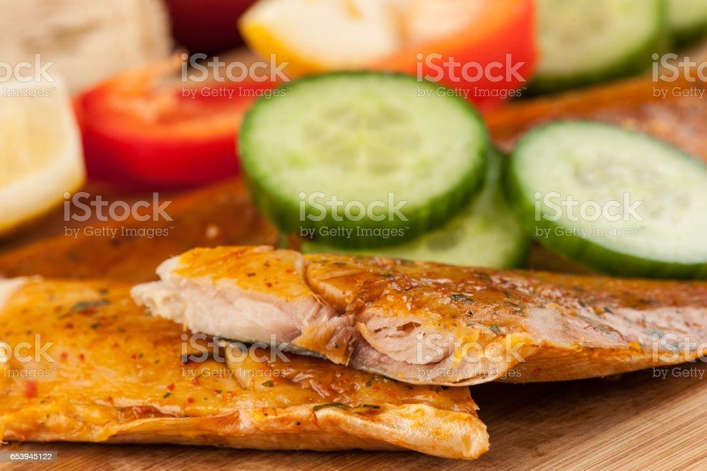 Smoked fish - foto de acervo