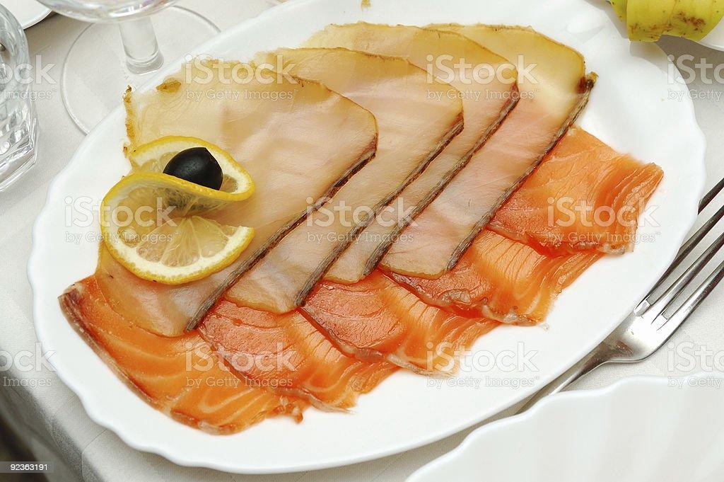 smoked fish royalty-free stock photo
