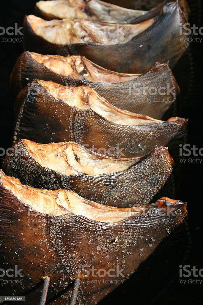 Smoked flatfish royalty-free stock photo