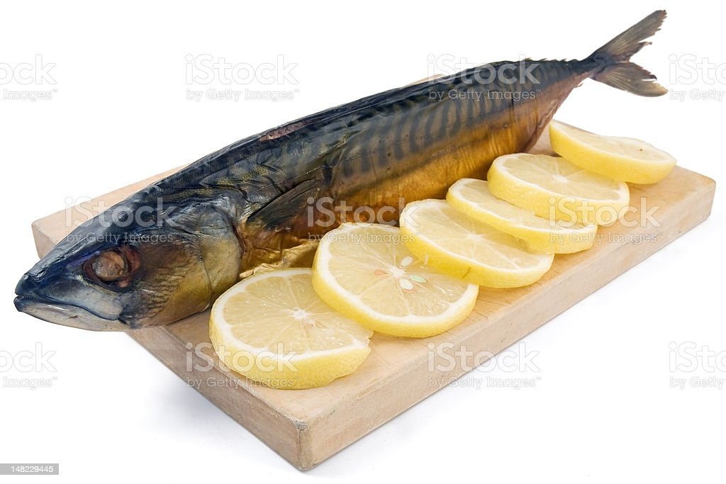 smoked mackerel royalty-free stock photo