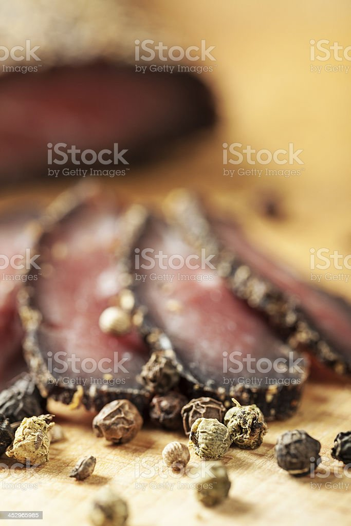 Smoked meat royalty-free stock photo