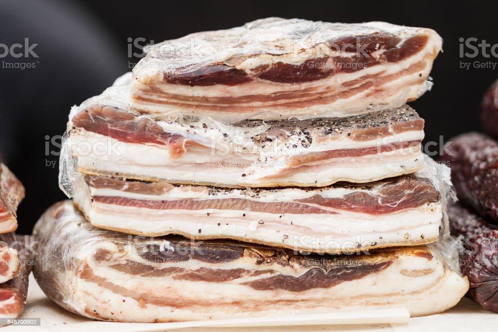 Smoked meat stock photo