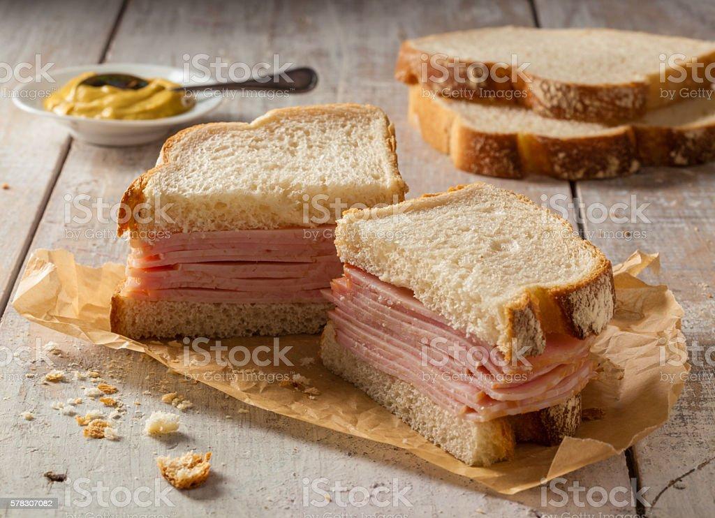 Smoked meat sandwich stock photo