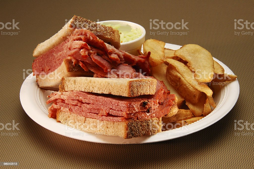 smoked meat sandwich royalty-free stock photo
