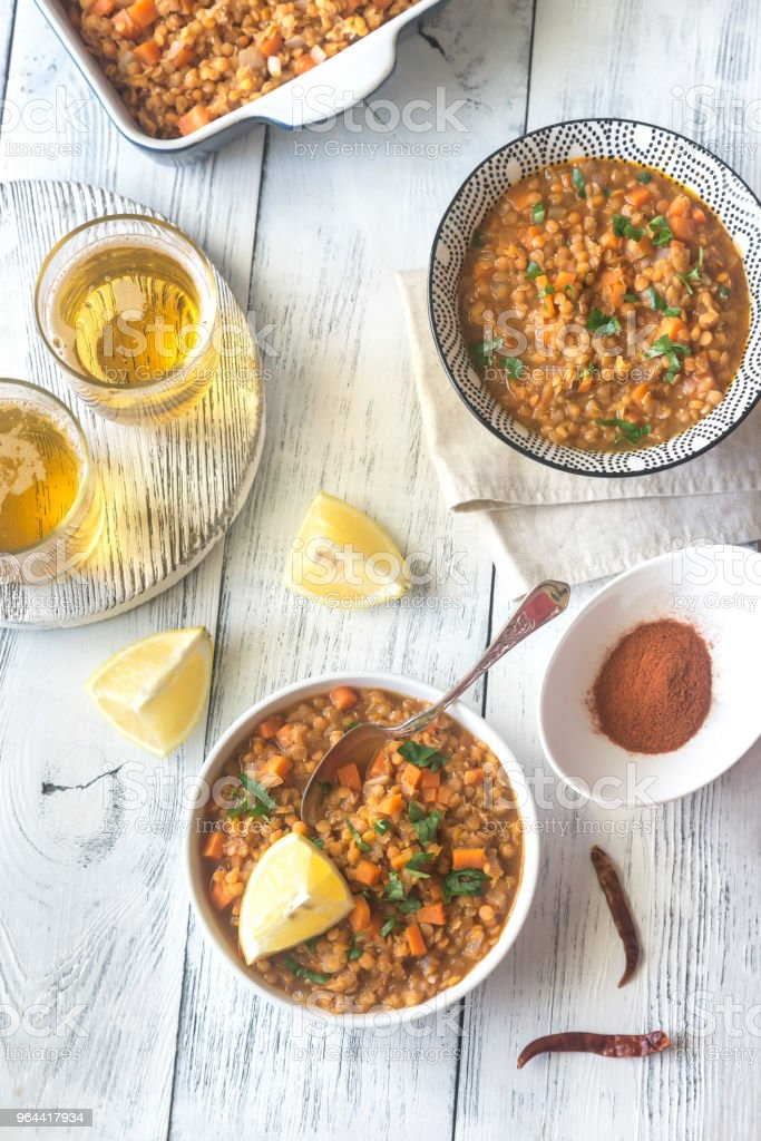 Smoked paprika red lentil stew - Royalty-free Ale Stock Photo
