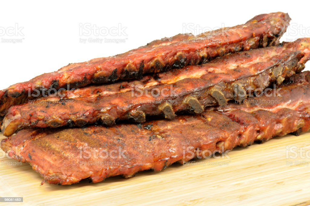 Smoked Pork Ribs Barbecue royalty-free stock photo