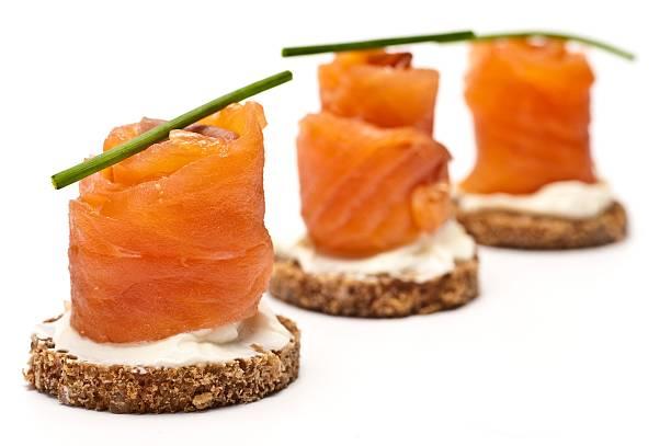 Smoked Salmon Appetiser stock photo