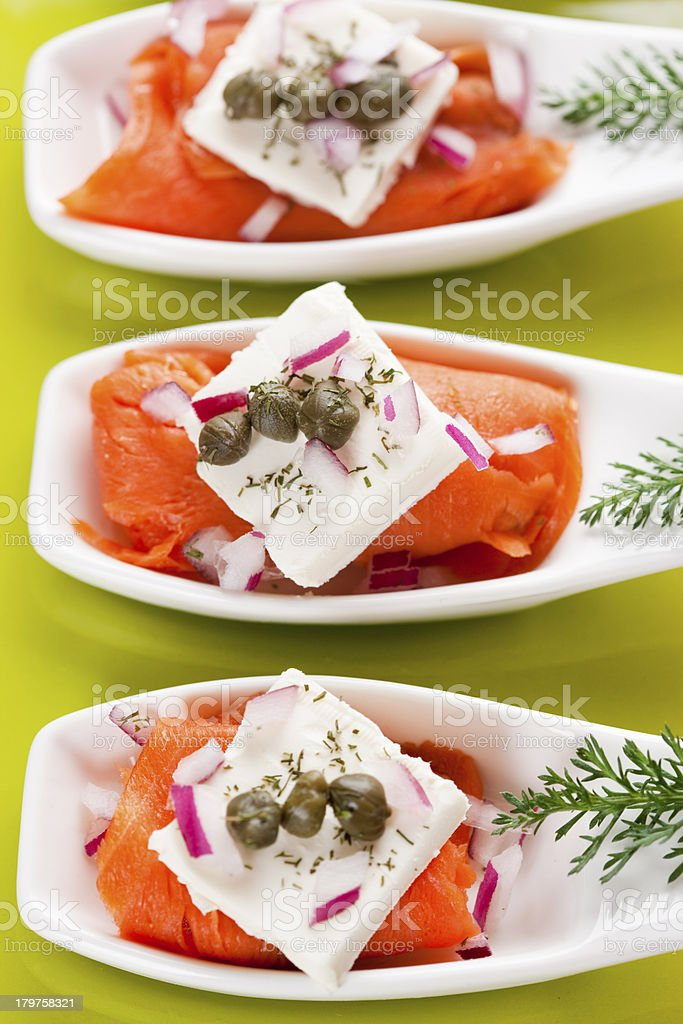 Smoked Salmon Appetizer royalty-free stock photo