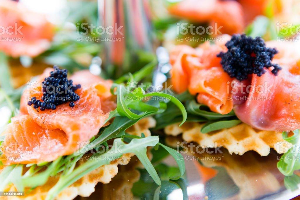 Smoked Salmon Arugula Appetizer - Royalty-free Afternoon Tea Stock Photo