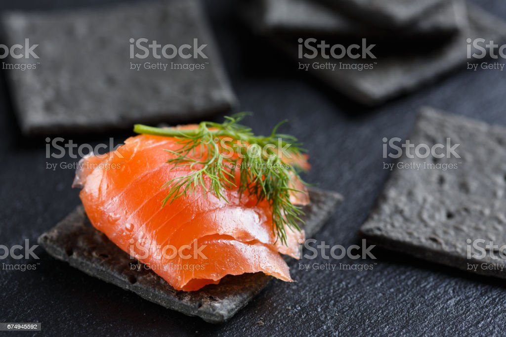 Smoked Salmon Canapes – Foto