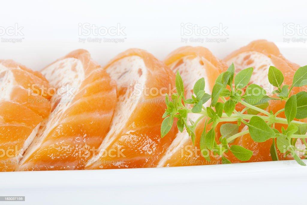 Smoked Salmon Crescents stock photo