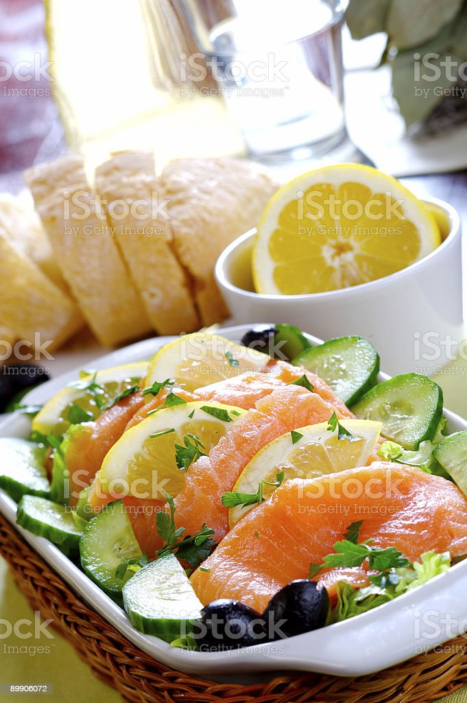 Smoked Salmon royalty-free stock photo