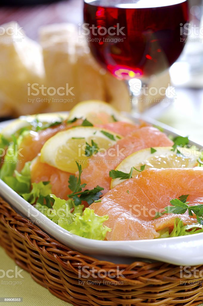 Smoked Salmon royalty free stockfoto