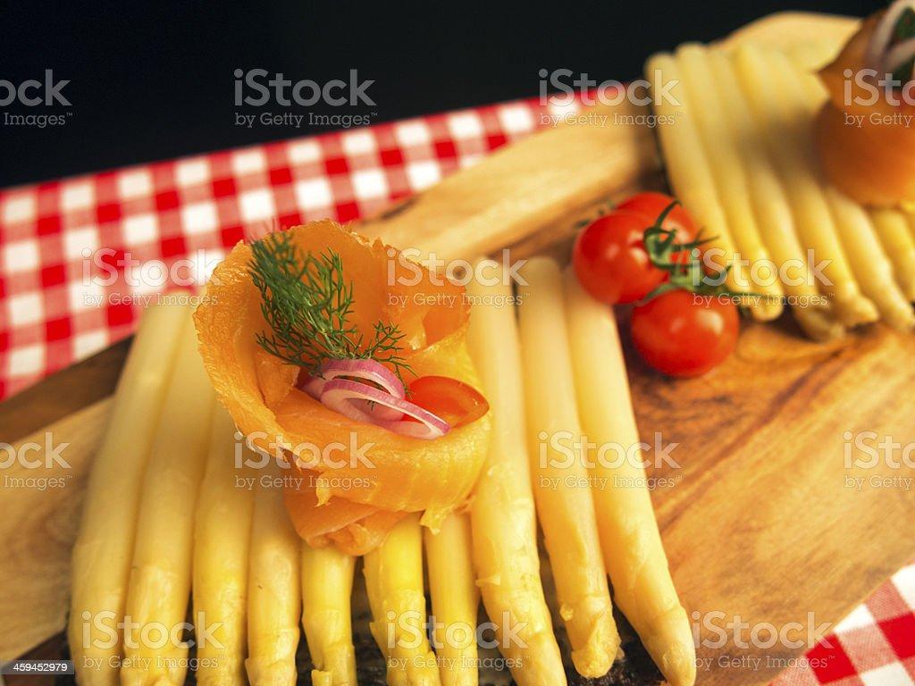 Smoked Salmon Roll stock photo
