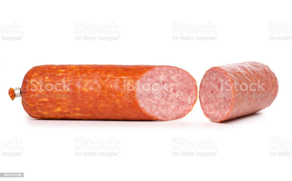 A smoked sausage food stock photo