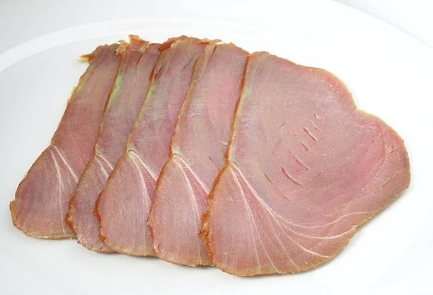 Smoked Tuna stock photo