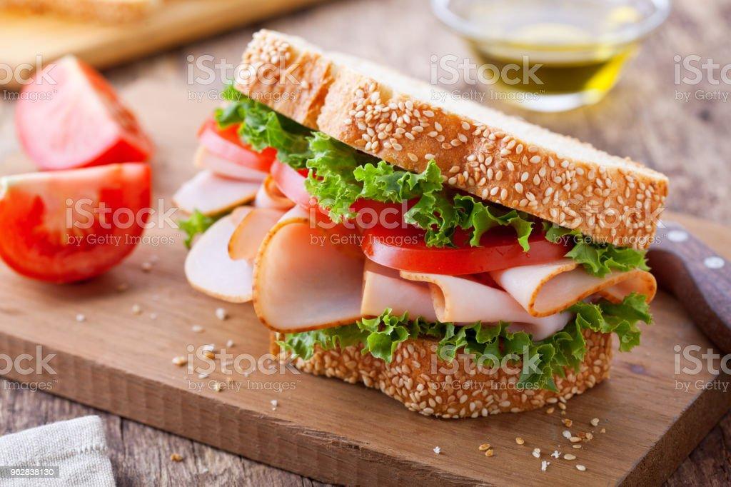 Smoked Turkey And Tomato Sandwich stock photo